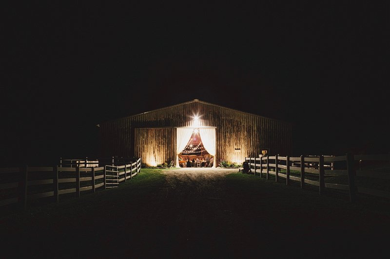 barn wedding night catskills ny