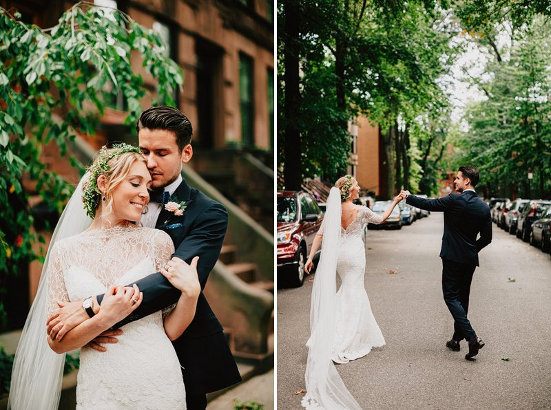 brownstone brooklyn wedding portraits