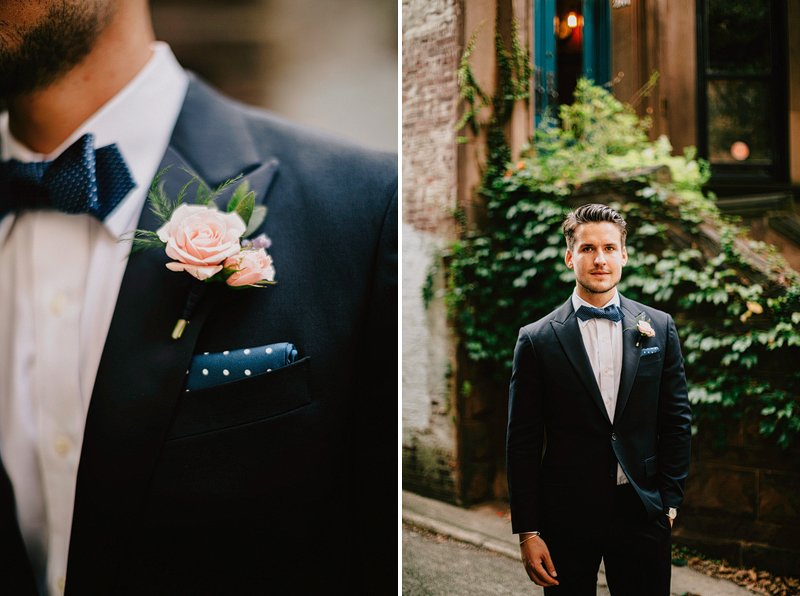 sprout home brooklyn wedding boutonniere