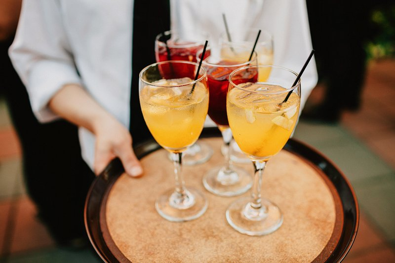 my moon cocktail hour wedding