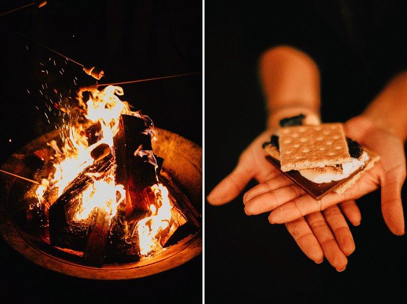 bonfire smores wedding