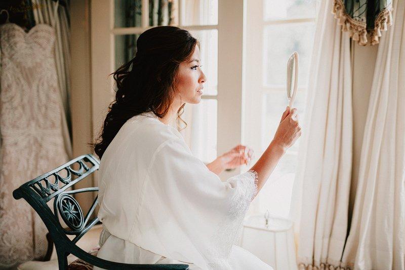 bride getting ready inn at barley sheaf