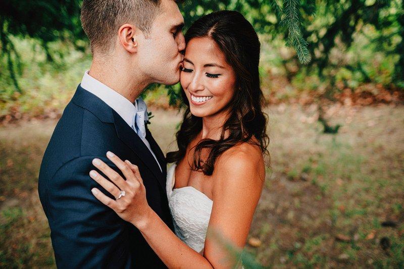 creative bride and groom portraits