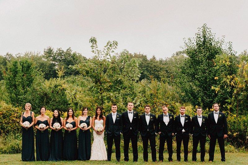 bridal party photos barley sheaf farm pa