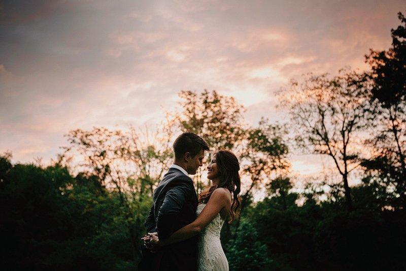 sunset portraits bucks county wedding pa