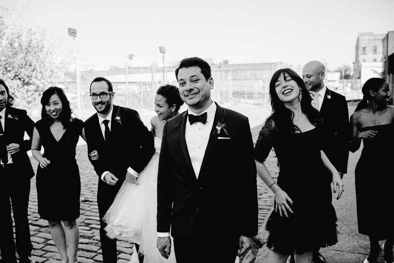 hipster brooklyn bridal party gowanus