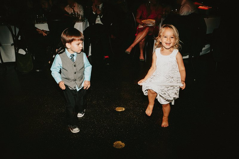 kids dancing barefoot wedding brooklyn