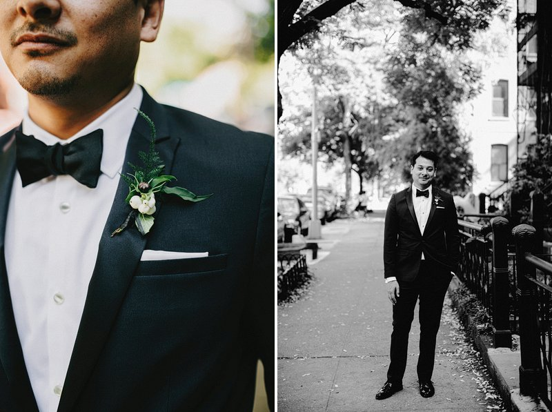 hipster groom tuxedo brooklyn