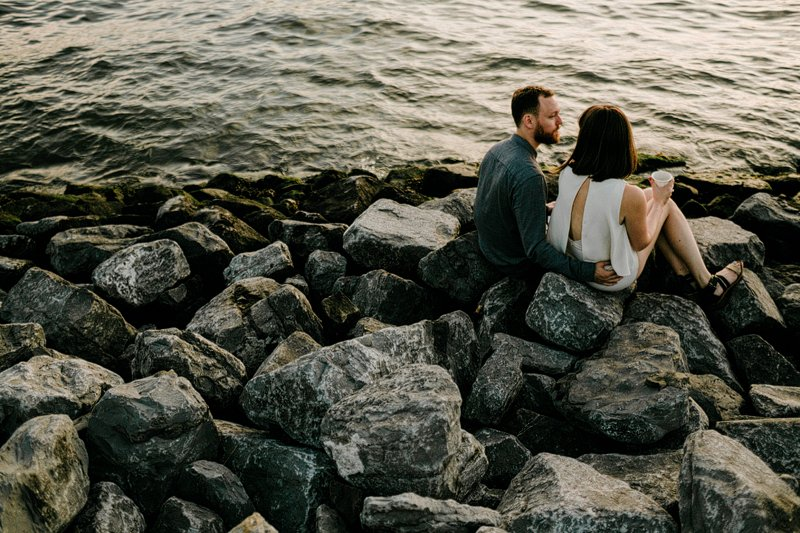 Greenpoint Brooklyn Summer Engagement Session vespa
