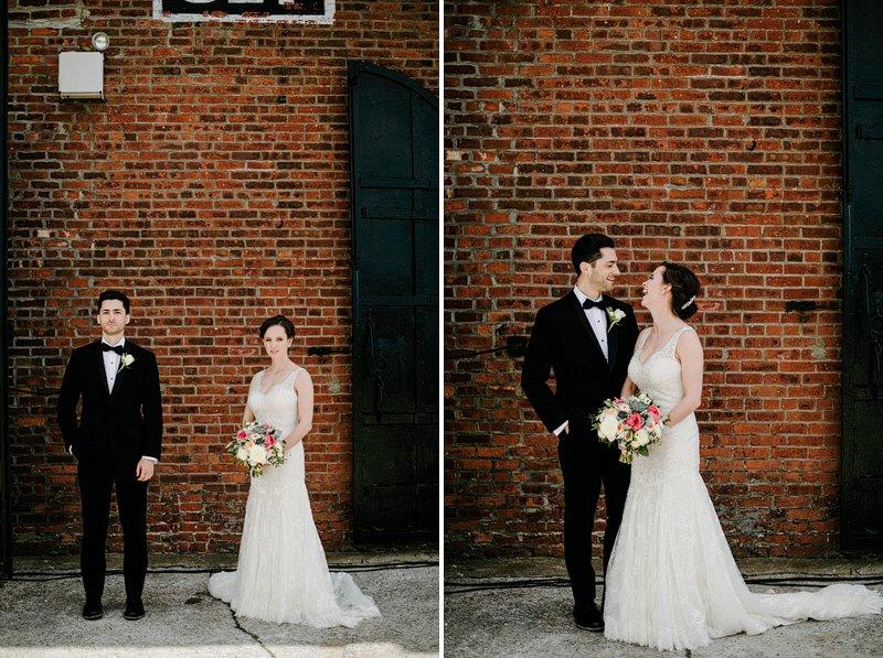 bridal portraits liberty warehouse brooklyn