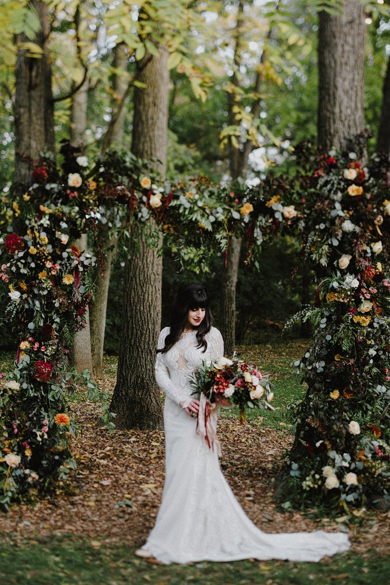 fall wedding inspiration flowers