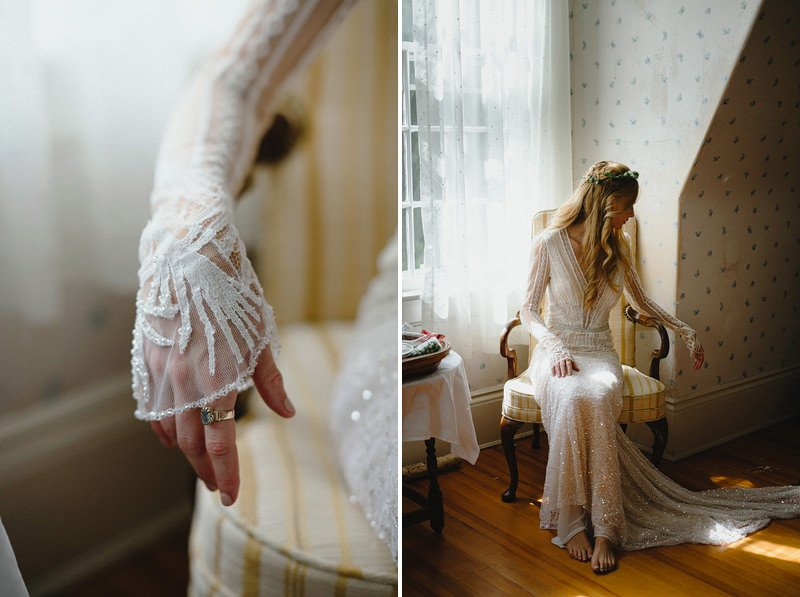 boho wedding dress with sleeves