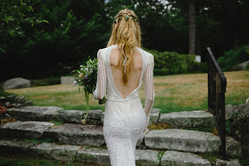 the fells new hampshire wedding boho chic