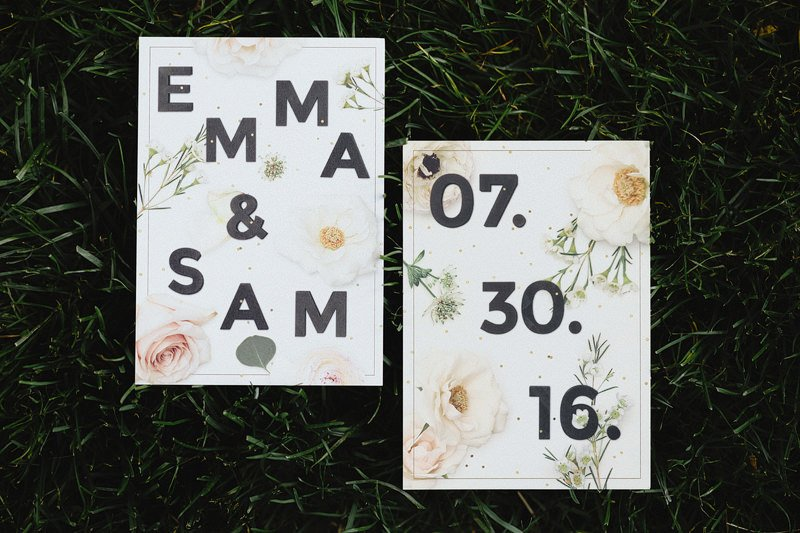 hipster wedding invitation idea