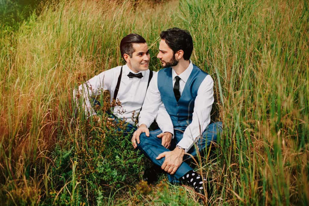 same sex wedding fire island