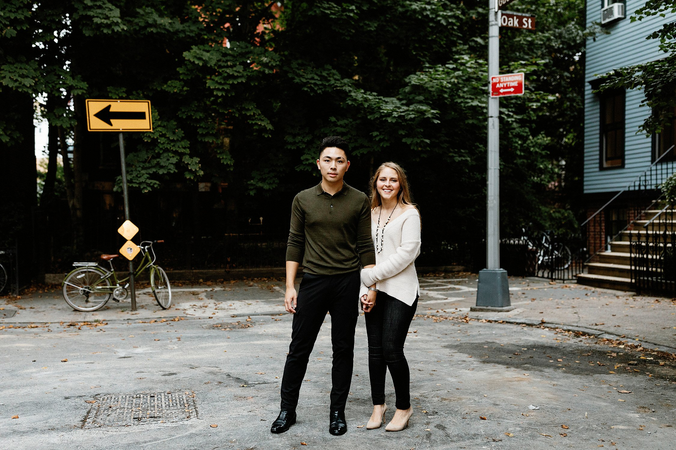 brooklyn engagement session couple girl and boy