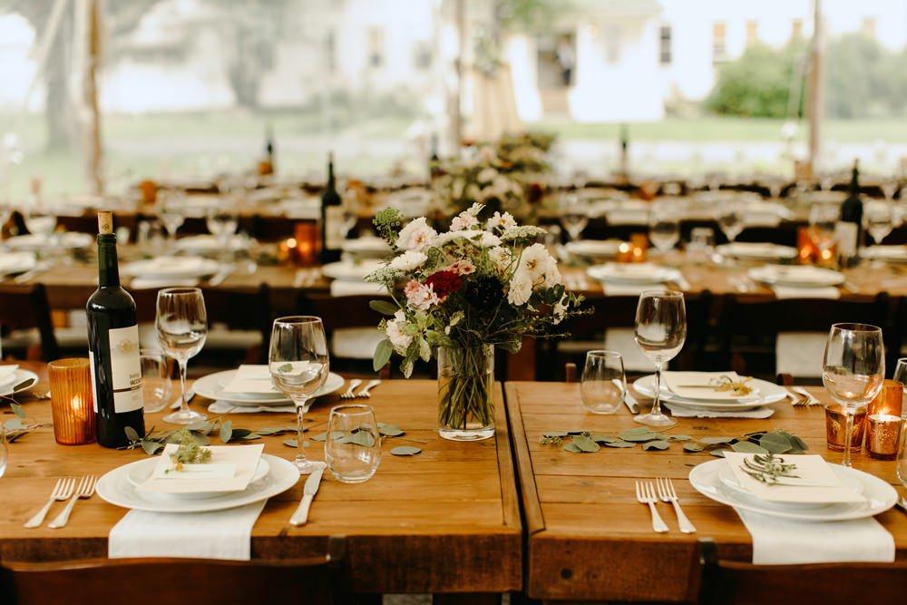 tent wedding reception ideas
