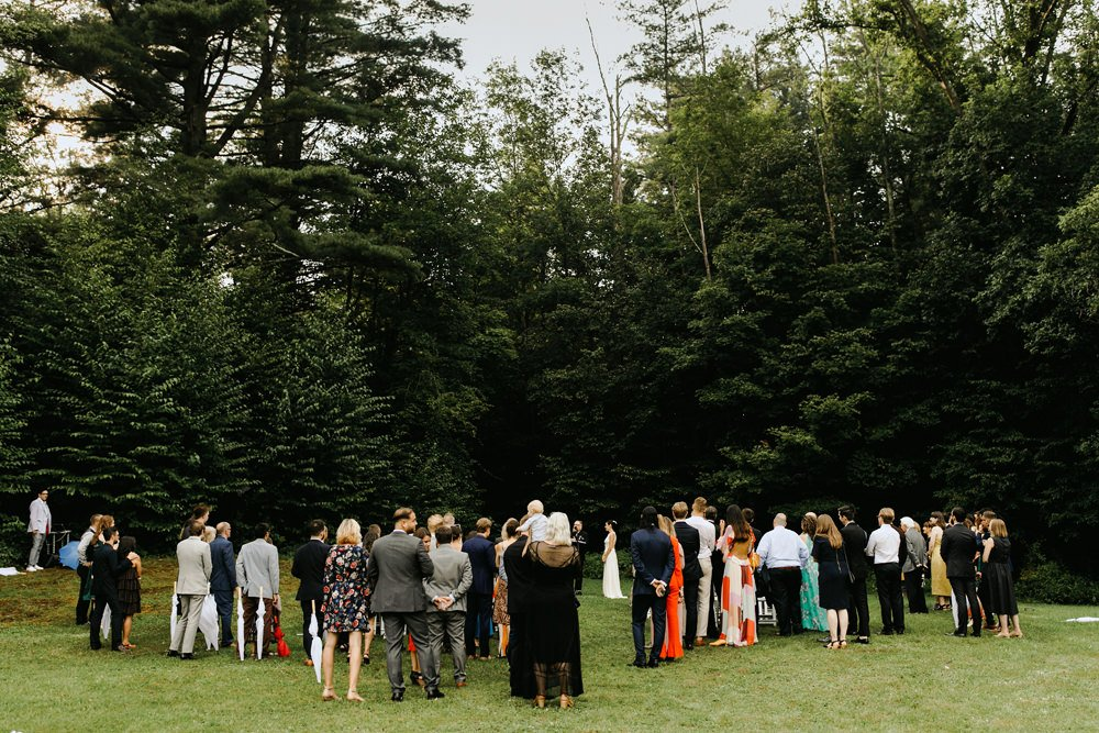 outdoor wedding ceremony catskills