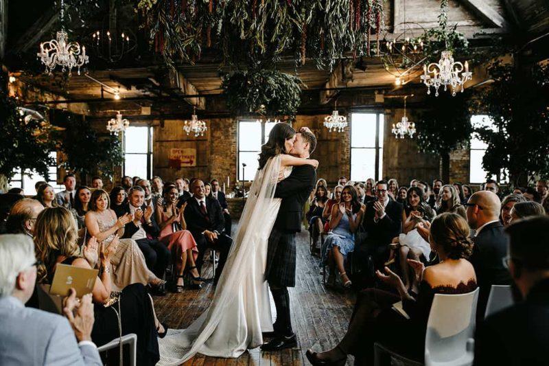 greenpoint loft wedding brooklyn lev kuperman