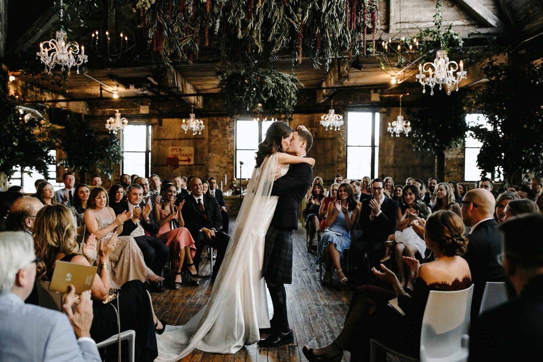 greenpoint loft brooklyn wedding ceremony lev kuperman