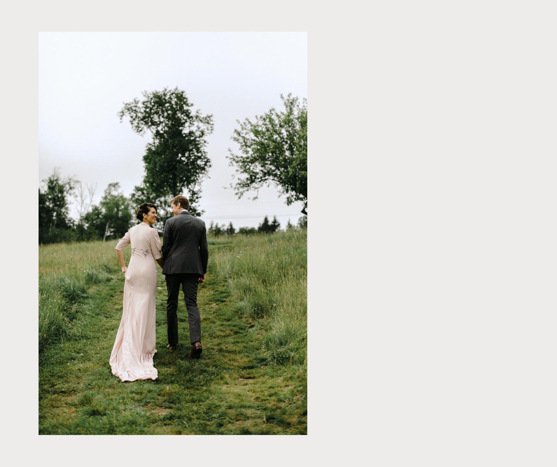 outdoor summer wedding maine