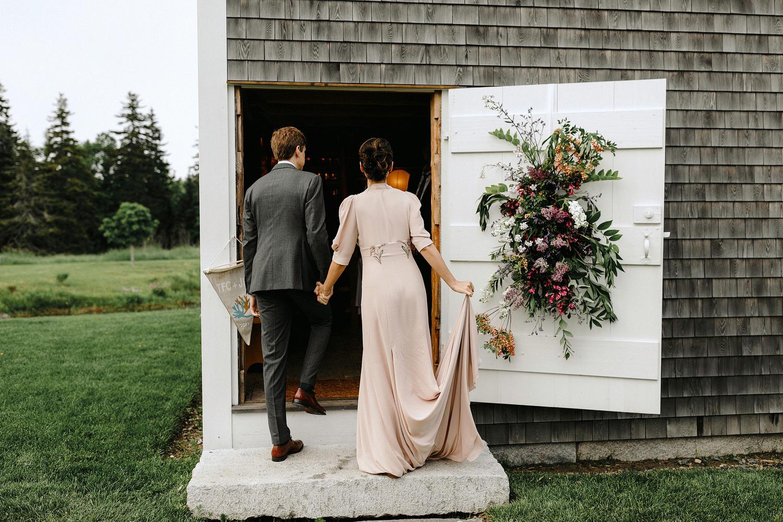 summer wedding barn maine