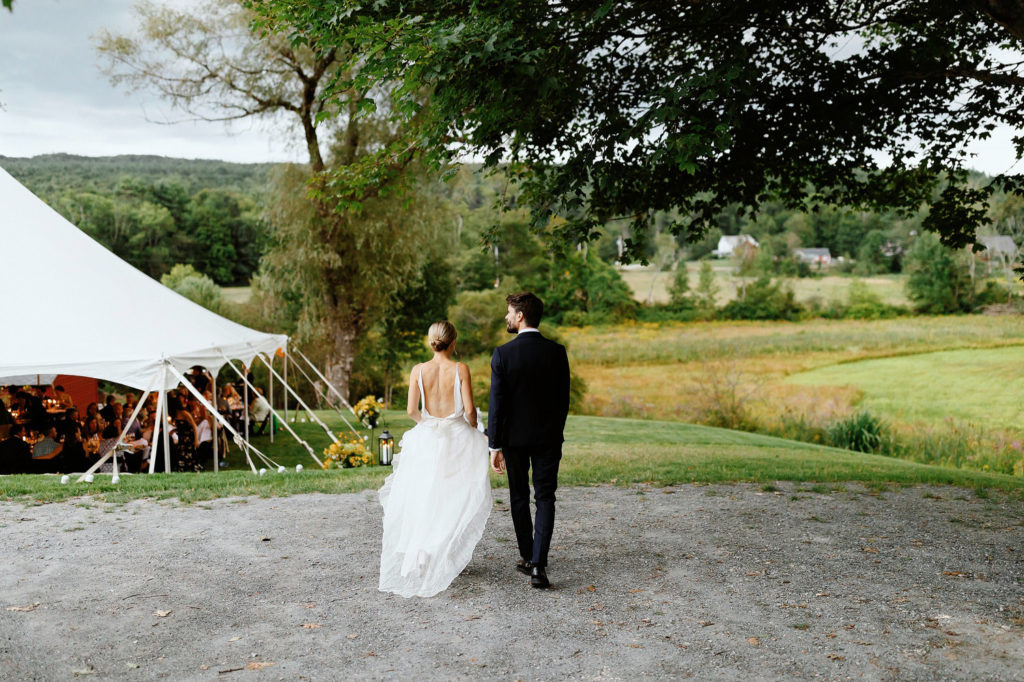 tent wedding new england